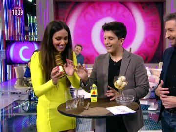 """El truco de magia de Jorge Luengo con un huevo y un billete de cinco euros que """"deja loco"""" a todo Zapeando"""