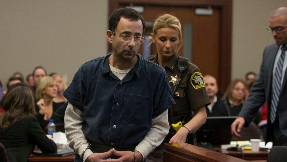 Larry Nassar, durante el juicio por abusos sexuales