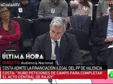 Ricardo Costa en el juicio del caso Gürtel
