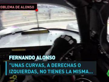 La falta de visibilidad en las curvas, uno de los problemas de Fernando Alonso en Daytona