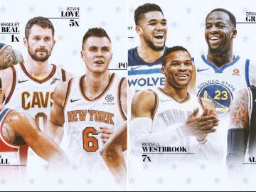 Los reservas del Este y el Oeste en el All Star 2018
