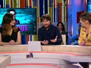 Ana Morgade, Jordi Évole y Anna Simon