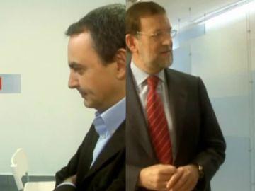 Jordi Évole con Zapatero y Rajoy