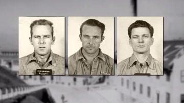John Anglin, su hermano Clarence y Frank Morris, los presos que escaparon de Alcatraz