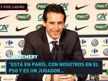 """Emery: """"Neymar es un jugador al que tenemos que darle cariño"""""""