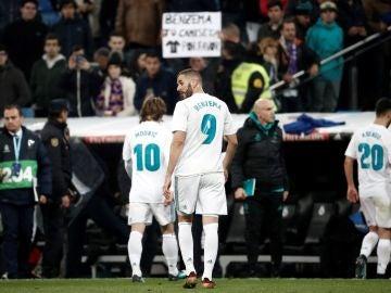 Los jugadores del Madrid, cabizbajos tras la eliminación del Leganés