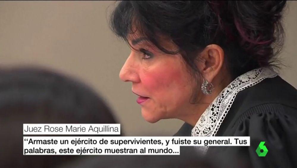 El emotivo agradecimiento de la jueza Rosemary Aquilina a la primera víctima que denunció a Nassar