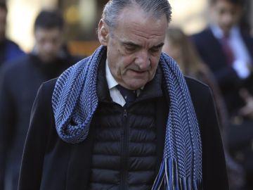 Mario Conde, el expresidente de Banesto a su llegada a la Audiencia Nacional