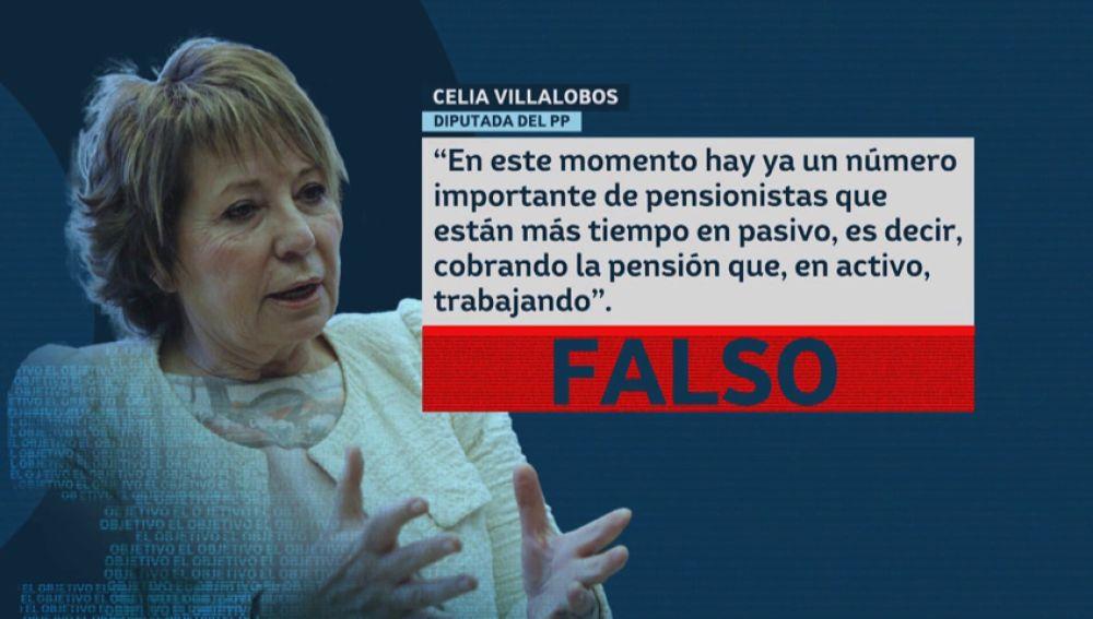 El dato falso de Celia Villalobos sobre los pensionistas