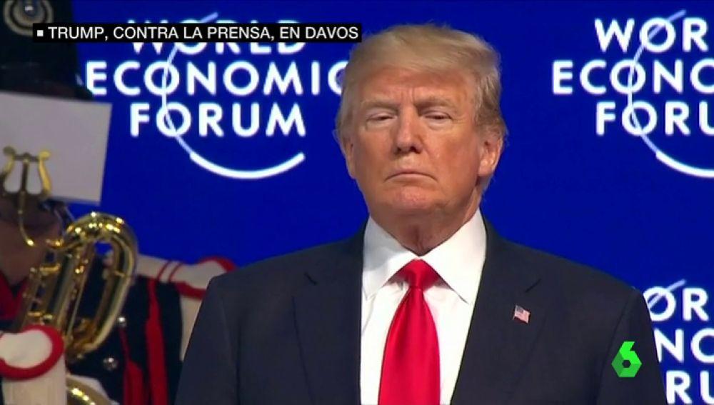 Donald Trump en su visita a Davos