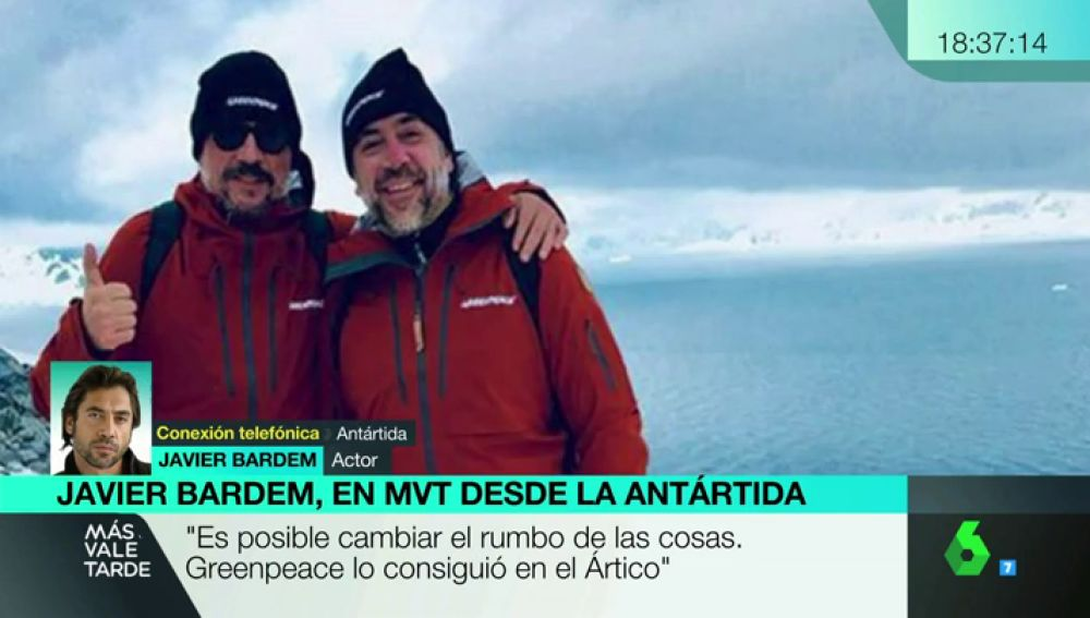 Carlos y Javier Bardem viajan a la Antártida con Greenpeace