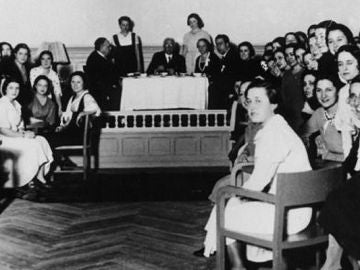 Fotograma del documental Luces de la enseñanza 1933 Facultad de Filosofía y Letras de Madrid