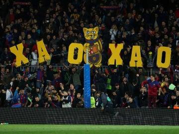 El Camp Nou, ante el Espanyol