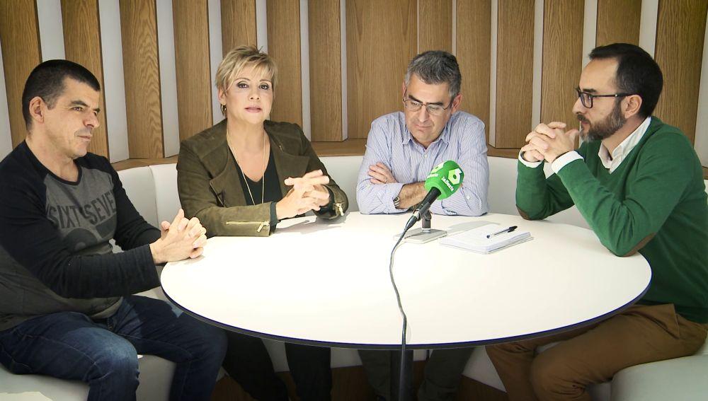 Gloria Serra junto a Manu Marlasca, Jorge Saucedo y Genar Martí