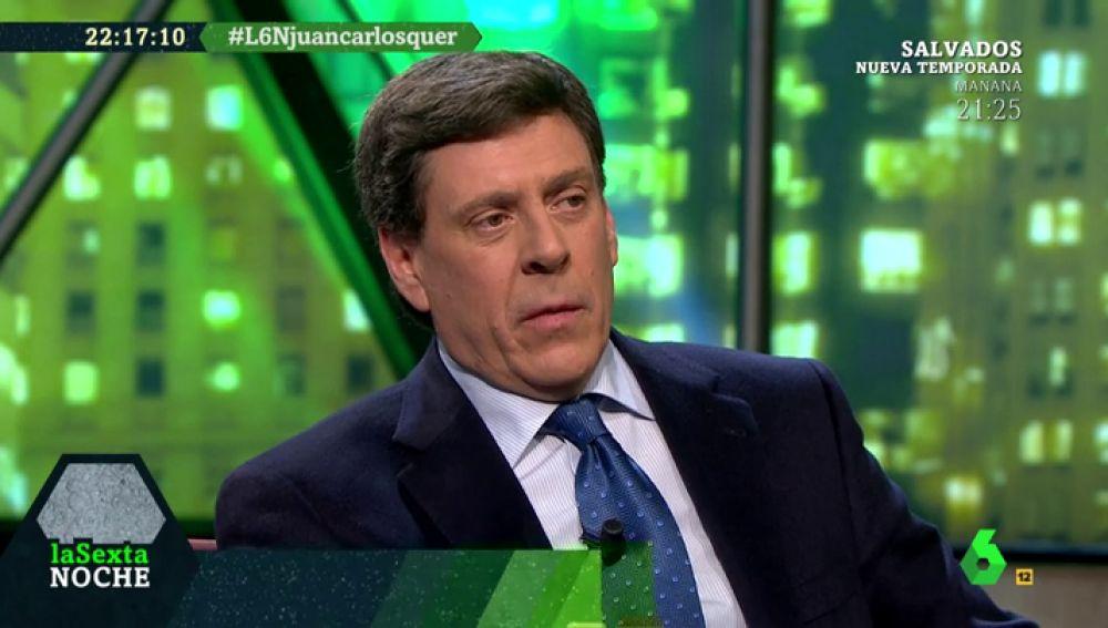 Juan Carlos Quer, durante su entrevista en laSexta Noche