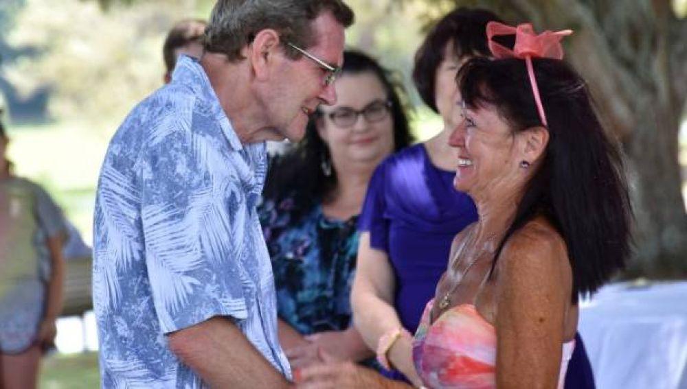 Foto de la ceremonia de Michael y Linda