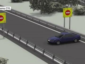 Una simulación de un kamikaze ante los avisadores lumínicos