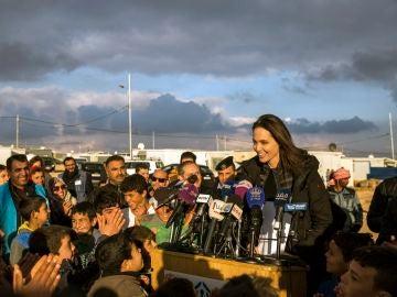Angelina Jolie en Jordania