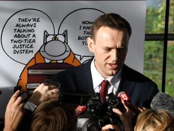 El bloguero, activista anticorrupción y líder opositor ruso Alexéi Navalni