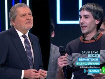 Íñigo Méndez de Vigo con David Bayo
