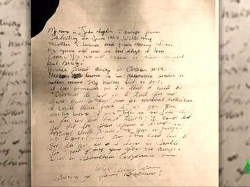 La carta que supuestamente escribió John Anglin