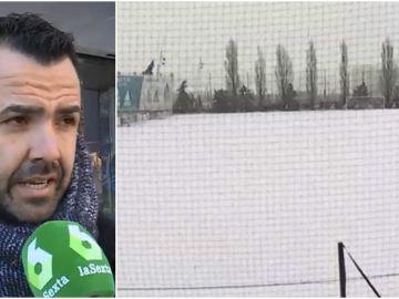 La afición se queja de que el Real Madrid no entrenara por la nieve