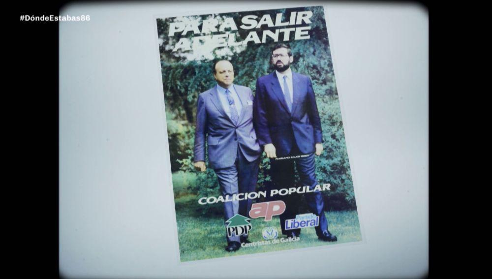 Mariano Rajoy y Manuel Fraga