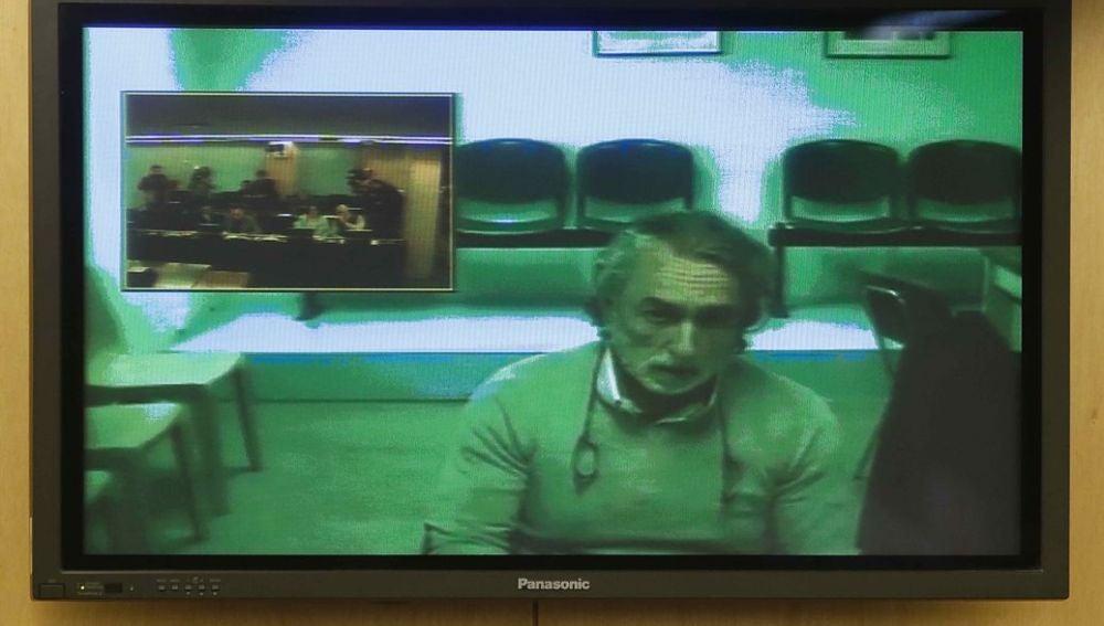 Francisco Correa en su comparecencia por videoconferencia