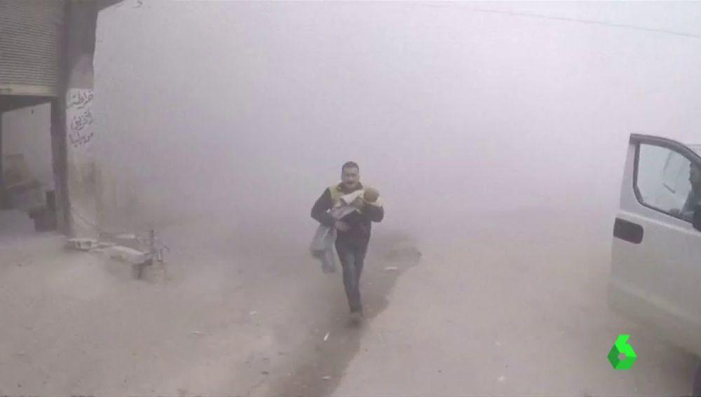 Bombardeos en la región de Guta, Siria