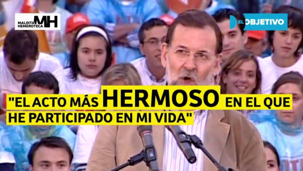 Cuando Rajoy le emocionaban los actos pagados por la Gürtel, según Costa