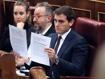 El líder de Ciudadanos, Albert Rivera, durante su intervención