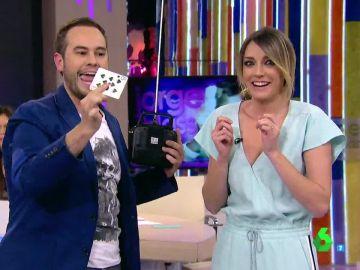 El espectacular truco de magia de Jorge Blass con un dron sobrevolando Zapeando