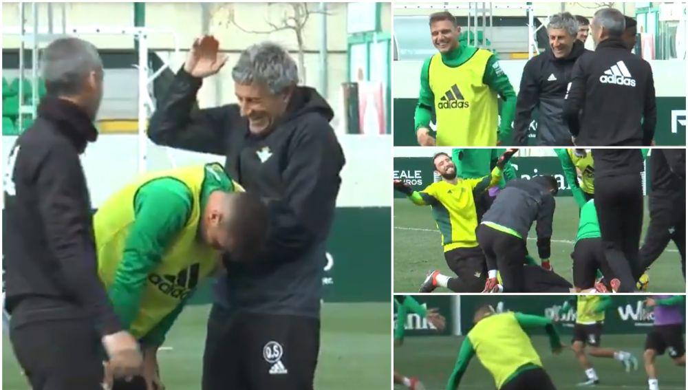 La broma del Betis a Joaquín por su tropiezo en el entrenamiento ... 10c979939b1d0