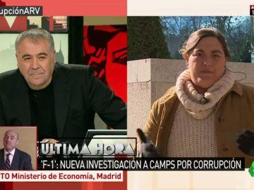 """Loreto Ochando, sobre Camps: """"Hace mucho que se le fue la cabeza con las explicaciones. Se amañó todo en la F1"""""""