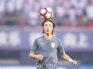 Zhang Xiuwei, durante un entrenamiento