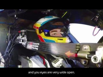 Así han sido las primeras vueltas de Fernando Alonso a bordo del Toyota de Le Mans