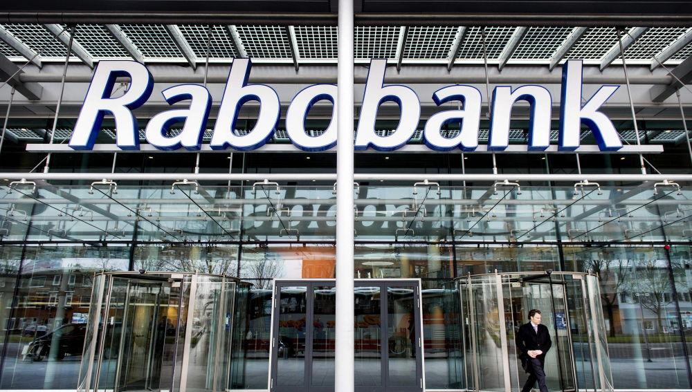 Entrada de las oficinas del banco holandés Rabobank en Utretch