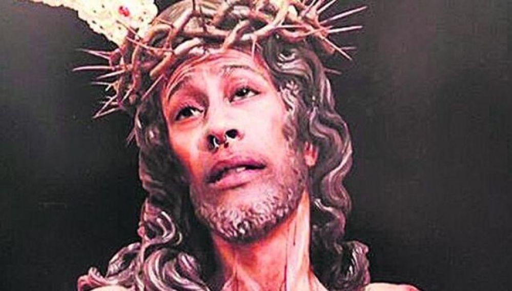 Montaje del cristo que el joven de Jaén publicó en Instagram