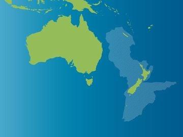 Zealandia y Australia