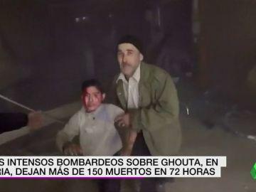 Los intensos bombardeos sobre Ghouta, en Siria, dejan más de 150 muertos en 72 horas