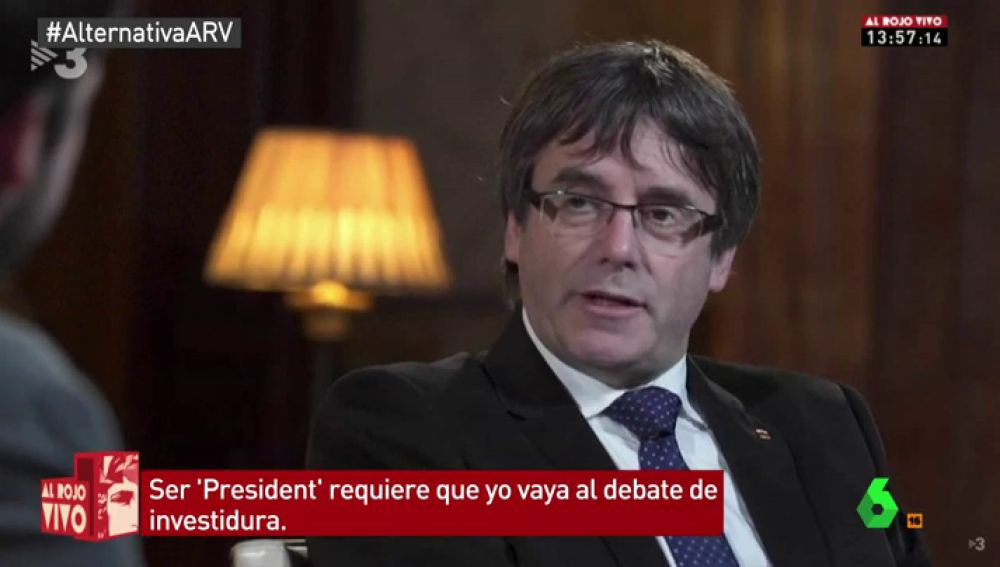 Carles Puigdemont, en una entrevista para ACN