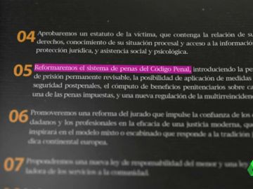 El PP prometió reformar el Código Penal en su programa electoral