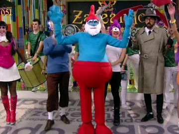 El 'Papá Pitufo' de Zapeando presenta un carnaval muy animado a ritmo de samba