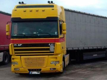 Imagen del camión que conducía el hombre que sextuplicaba la tasa de alcohol permitida