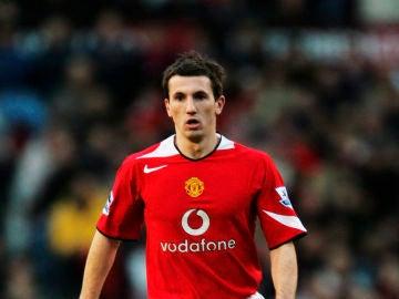 Liam Miller, durante un partido con el Manchester United