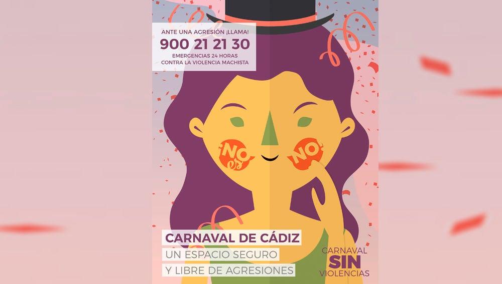 El Carnaval de Cádiz intensifica su campaña contra la violencia machista