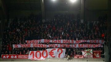 El Bayern protesta por el precio de las entradas