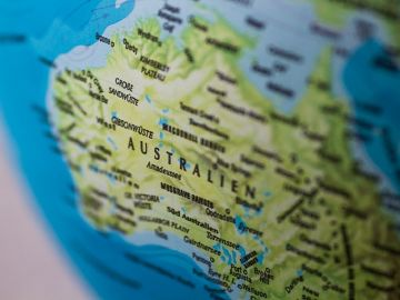 Un mapa de Australia