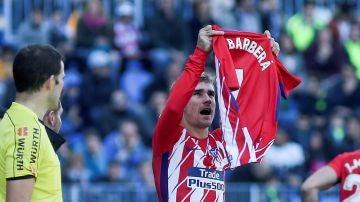 Griezmann, con la camiseta de Barberá