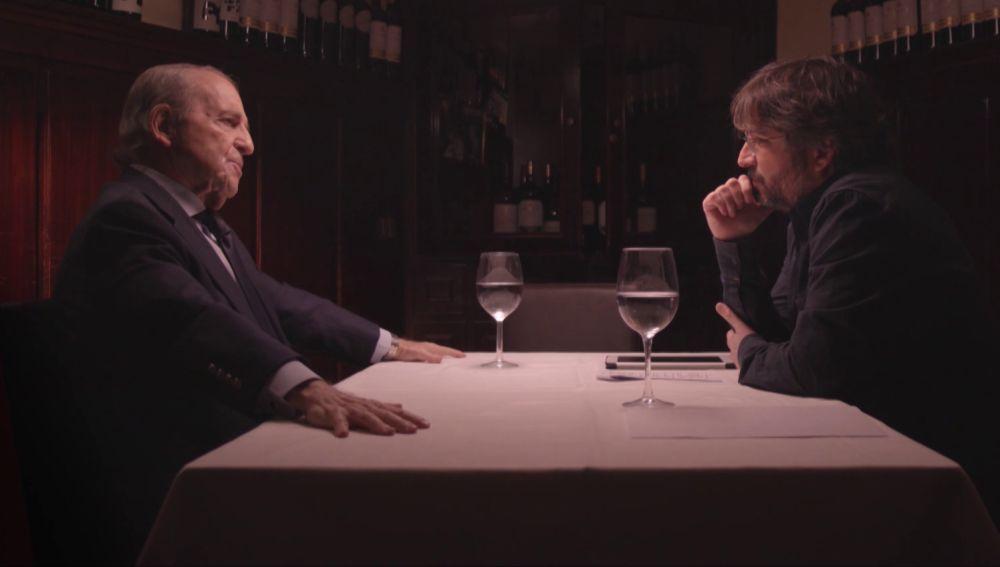 José María García con Jordi Évole en Salvados